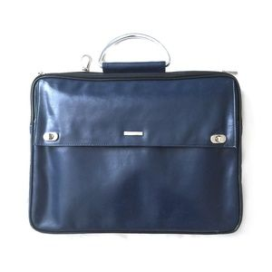 GILSON MARTINS Navy Blue Laptop Bag/OS